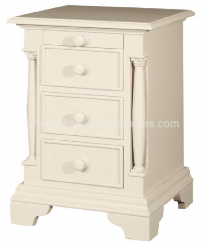 Roseline Three Drawer Bedside